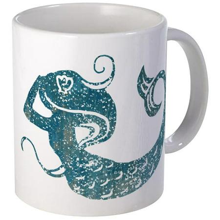 CafePress - Worn Mermaid Graphic Mug - Unique Coffee Mug, Coffee Cup CafePress