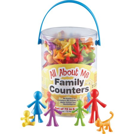 Learning Resources, LRNLER3372, All About Me Family Counters Set, 72 / Pack, Assorted