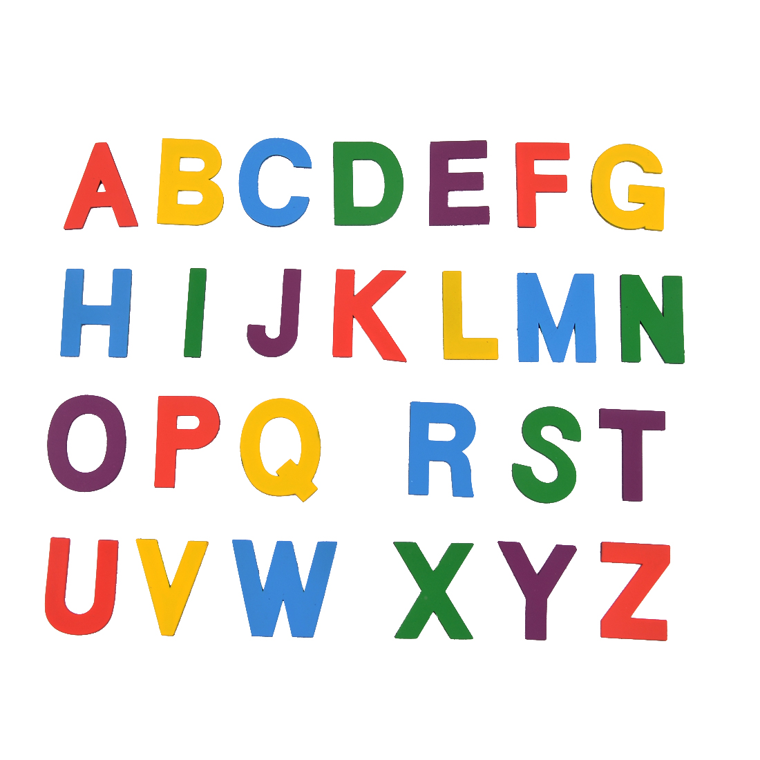 English Letters Sheet Shaped Teaching Planning Tool Magnets Colorful 26 in 1