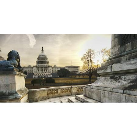 LAMINATED POSTER Sunrise Washington Dc Usa Capitol National Mall Poster Print 24 x (Oakland Mall Map)