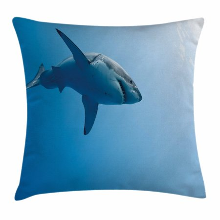 Shark Throw Pillow Cushion Cover Fish Swimming In The Ocean Mesmerizing Shark Decorative Pillow
