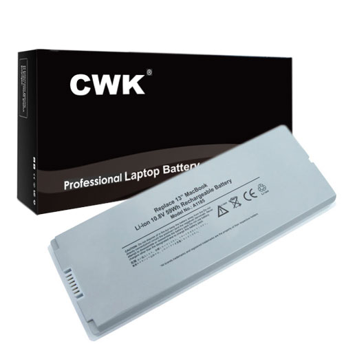 "CWK White Long Life Replacement Laptop Notebook Battery for Apple MacBook 13"" inch A1181 A1185 MA561 MA255 MA254 MA699 MacBook 13"" inch A1181 A1185 MA561 MA566"