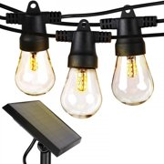 Brightech Ambience Pro - Weatherproof, Solar Power Outdoor String Lights - 27 Ft Hanging Edison Bulbs Create Bistro Ambience in Your Yard