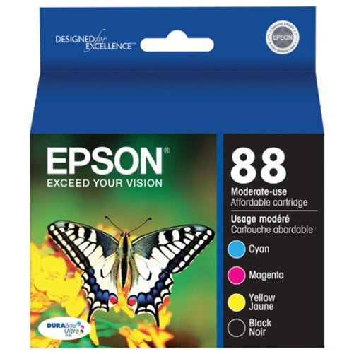 Epson 88 Moderate-capacity Black/Color Combo Pack Ink Cartridge - for Stylus CX4450, CX7450, N11