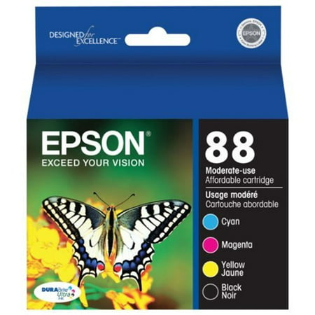 Epson 88 Moderate-capacity Black/Color Combo Pack Ink Cartridge - for Stylus CX4450, CX7450, N11](epson stylus 880 ink cartridges)