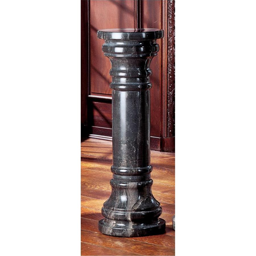 Large Charcoal Solid Marble Column