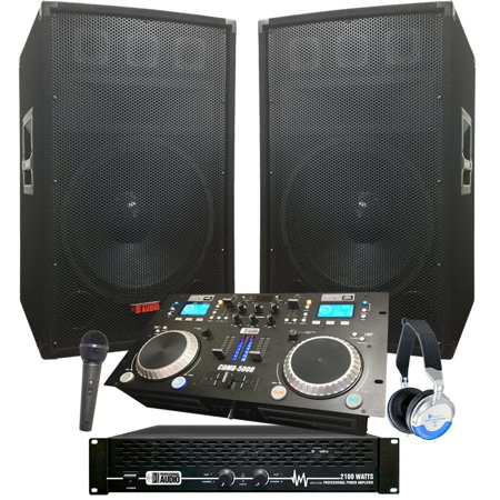 Complete Dj System - 2100 WATTS - Connect your Laptop, iPod, USB, MP3