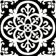 FloorPops Gothic 12 in. x 12 in. Peel and Stick Virgin Vinyl Floor Tiles (10-Pack)