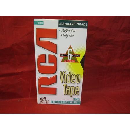 RCA T-120 VHS Video Cassette 120-Minutes Six (Tdk Vhs Blank Cassette)