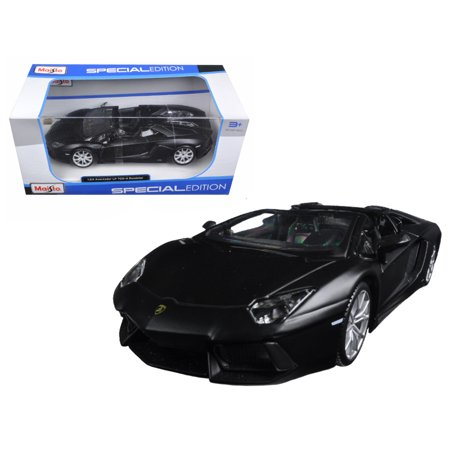 Lamborghini Aventador Lp 700 4 Roadster Matt Black 1 24 Diecast Model Car  By Maisto