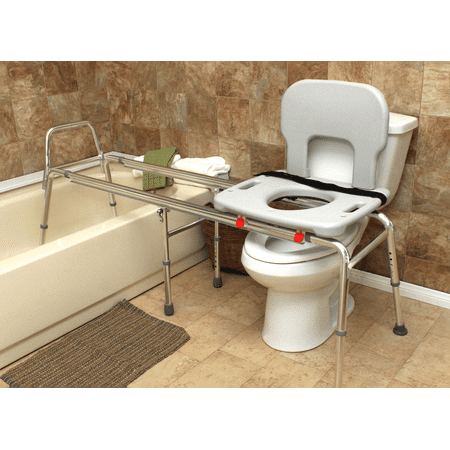 Eagle Health Supplies Toilet-to-Tub Sliding Transfer Bench, XX Long ...