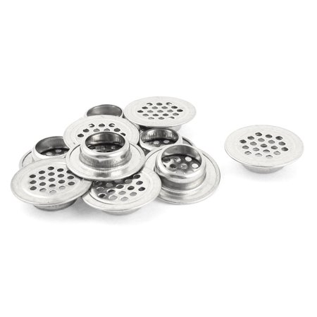 10pcs 30mm Dia Round Stainless Steel Air Louvre Vent Ventilator Grill - image 1 of 1