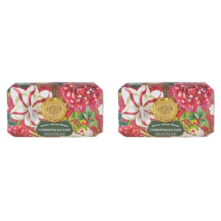Michel Design Works Large Bath Bar Soap 2-Pack Christmas Day Unisex Bath Bar