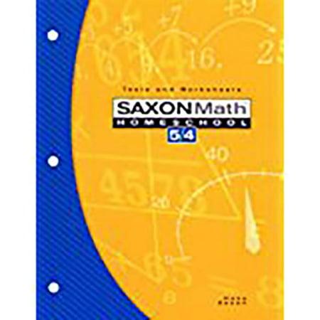 Saxon Math Homeschool 5/4 : Tests and Worksheets