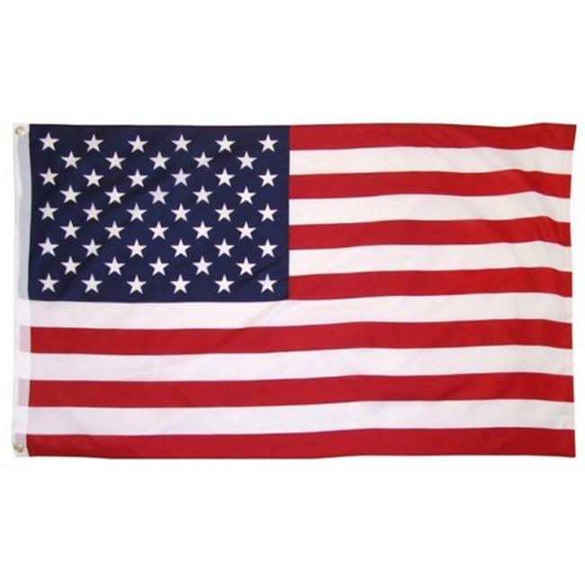 7028 Cotton USA Flag Indoor Outdoor, 3 x 5 Ft