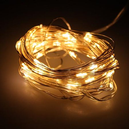 AGPtek 16.5FT 50 Individual LED String Lights Waterproof Ultra Thin Copper Wire Starry Light For Wedding Party - Copper Wedding