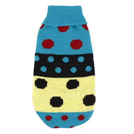 Lovely Colorful Dot Pattern Pet Puppy Dog Clothes Dog Apparel Sweater Size XS Green - Pets Dot Com