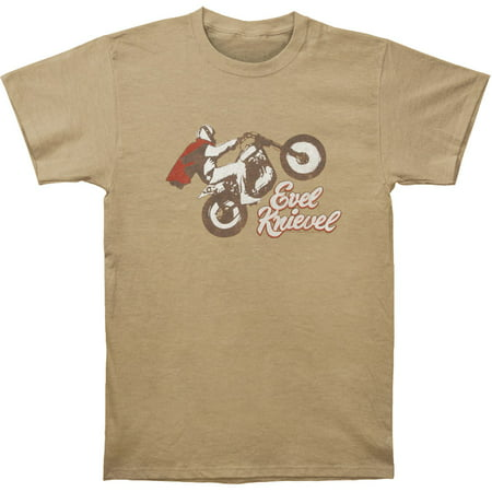 Evel Knievel Men's  Evel Wheelie T-shirt Heather Khaki