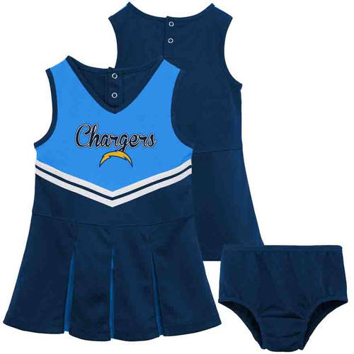 NFL San Diego Chargers Girls Cheerleader Set