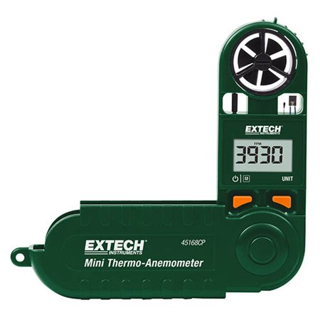 Extech 45168CP Thermo-Anemometer Mini with Built-in Compass (Mini Thermo Anemometer)