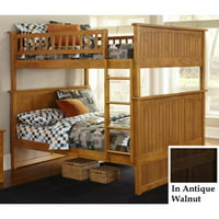 Nantucket Bunk Bed-Finish:Antique Walnut,Size:Full/Full