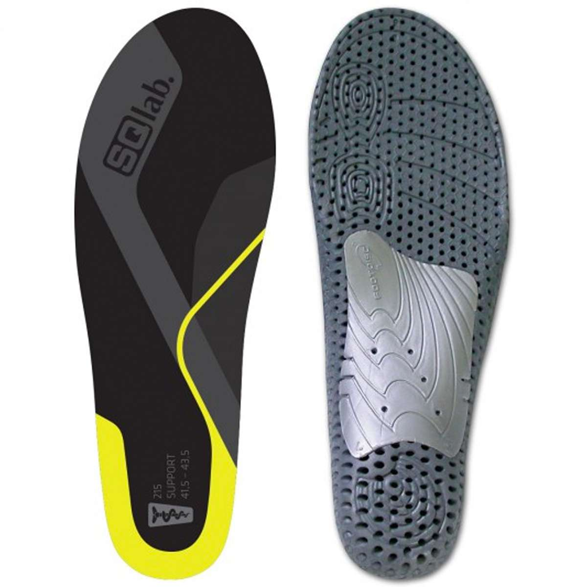 SQlab 215 Support Gold Mid Arch Cycling Shoe Insoles