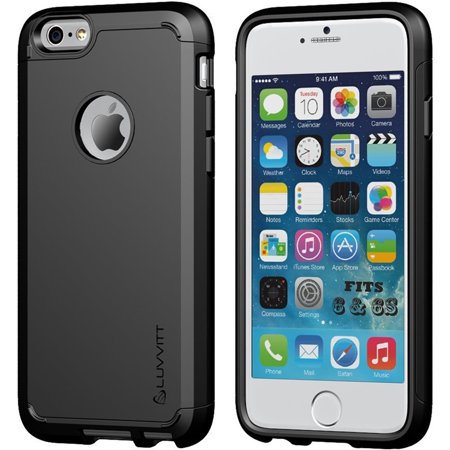 LUVVITT [Ultra Armor] Shock Absorbing Case Best Heavy Duty Dual Layer Tough Cover for Apple iPhone 6 / iPhone 6s