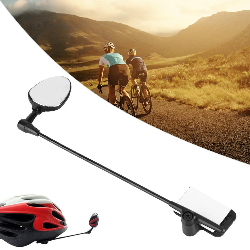 1pc Bicycle Rotation Adjustment Helmet Rearview Mirror Bicycle Accessory RA L JM