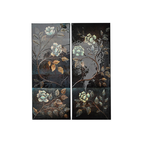 Crestview Collection Climbing Happiness 2 Peice Graphic Art on Canvas Set (Set of 2)