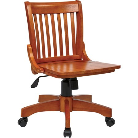 Office Star Products Deluxe Wood Banker's Chair, Multiple Co