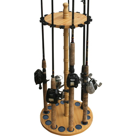 Three Rod Tournament Rack - Rush Creek Creations 16 Fishing Rod Round Storage Rack