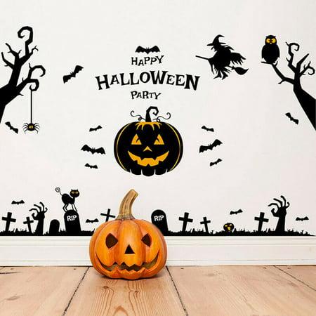 KABOER 3D Pumpkin Halloween Party Scary Wall Sticker Window Living Room DIY Decal#wno](Scary Halloween Pumpkins Wallpaper)