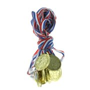 "Gold ""Super Star"" Medals - Stationery - 12 Pieces"