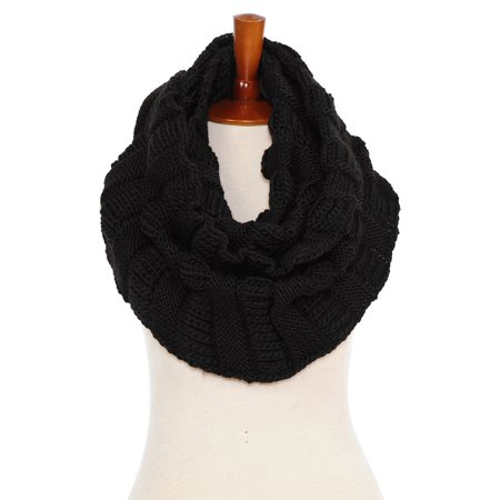 Basico Women Winter Warm Knit Infinity Scarf Soft Shawl