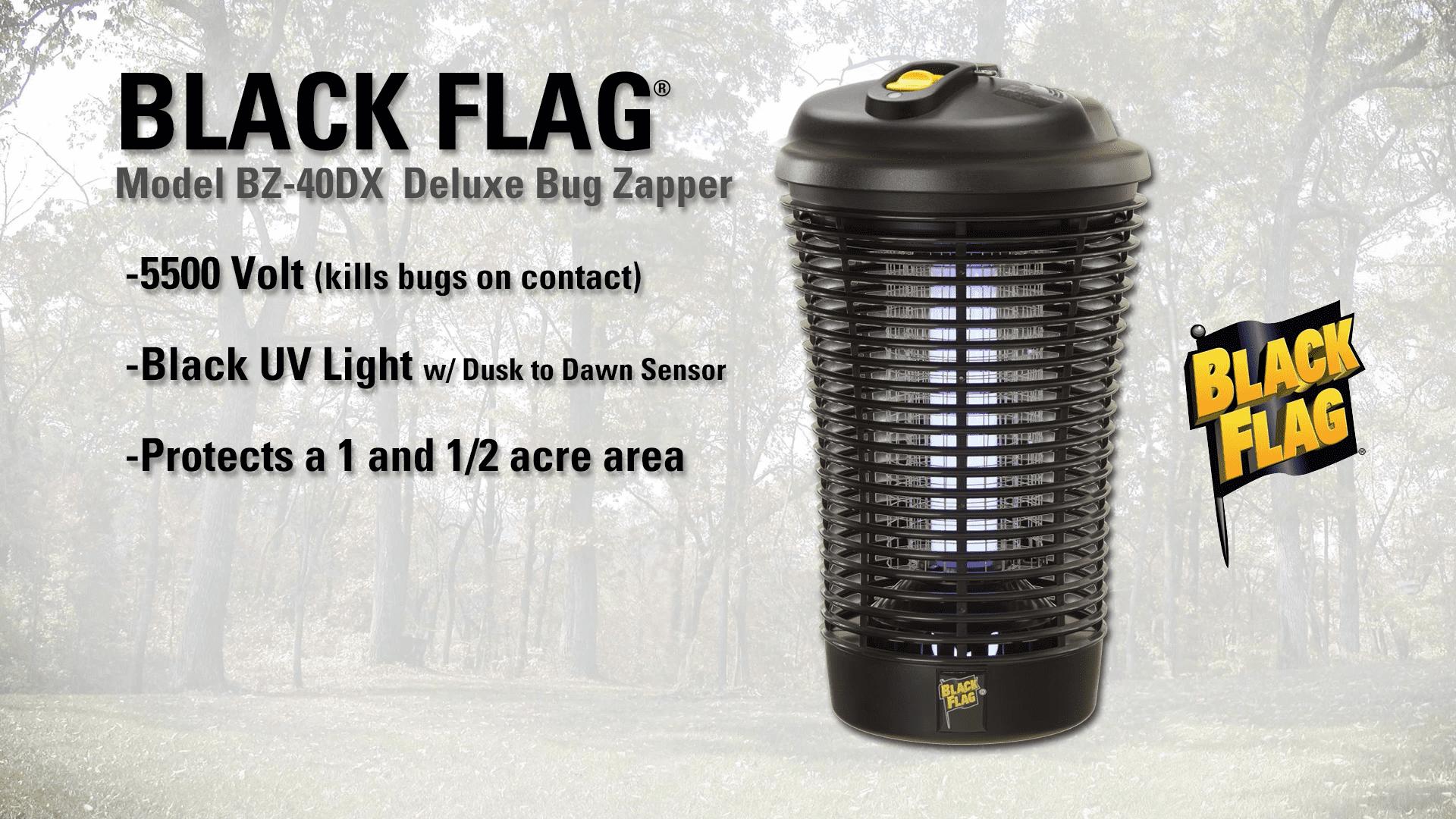 Outdoor Bug Zapper BZ-40-DX 40-Watt for Medium// Large Yards
