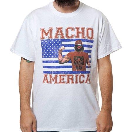 outlet store fea79 b3749 WWE Macho Man Randy Savage America T-Shirt