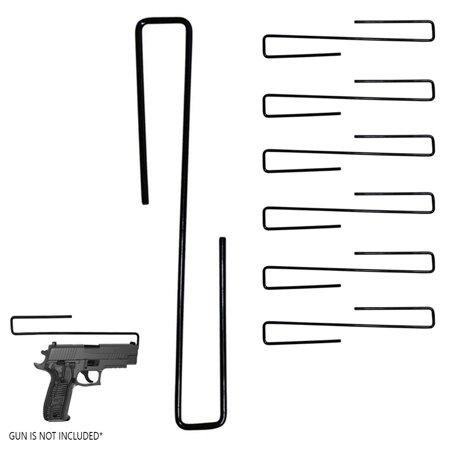 6PC Safety Handgun Hangers Pistol Gun Holder Cabinet Organizer Rack Hook Storage thumbnail