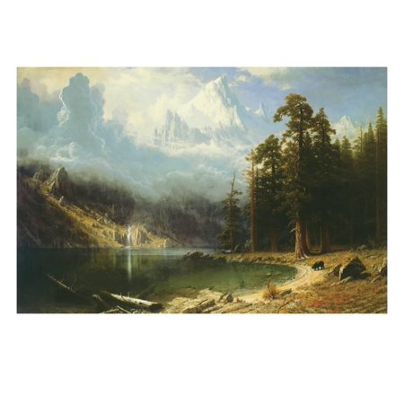 Mount Corcoran Fine Art Mountain Lake Traditional Painting Print Wall Art By Albert Bierstadt ()