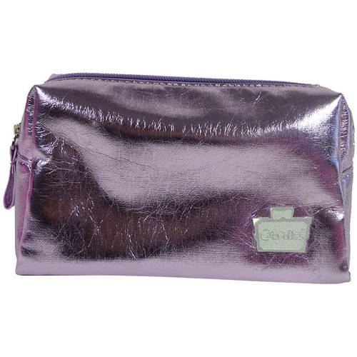 Caboodles Faux Leather Cosmetic Bag, Orchid, Small