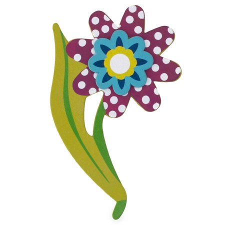 """5"""" Wooden Hand Painted Flower Cut Out"""