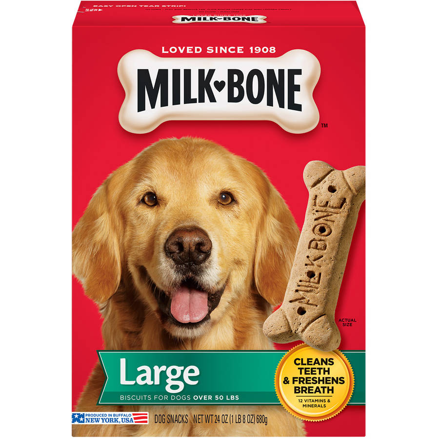 Milk-Bone Original Dog Biscuits for Large-Sized Dogs, 24 oz
