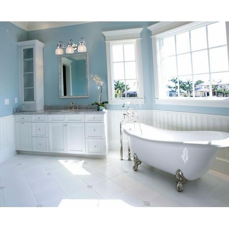 Modern Glass Wall Lighting 3-Light Chrome Finish Wall Sconces Bath Vanity