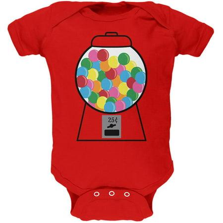 Candy Gumball Machine Costume Soft Baby One - Gumball Machine Costumes