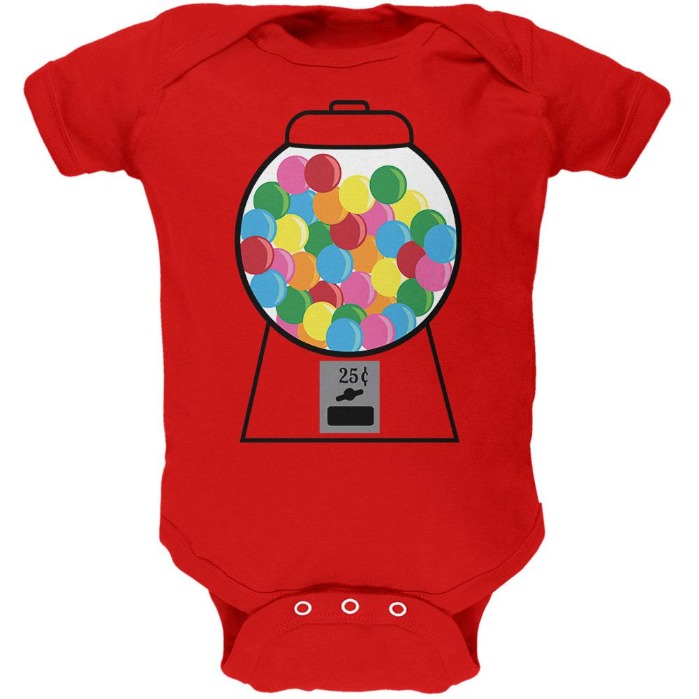 Candy Gumball Machine Costume Soft Baby One Piece