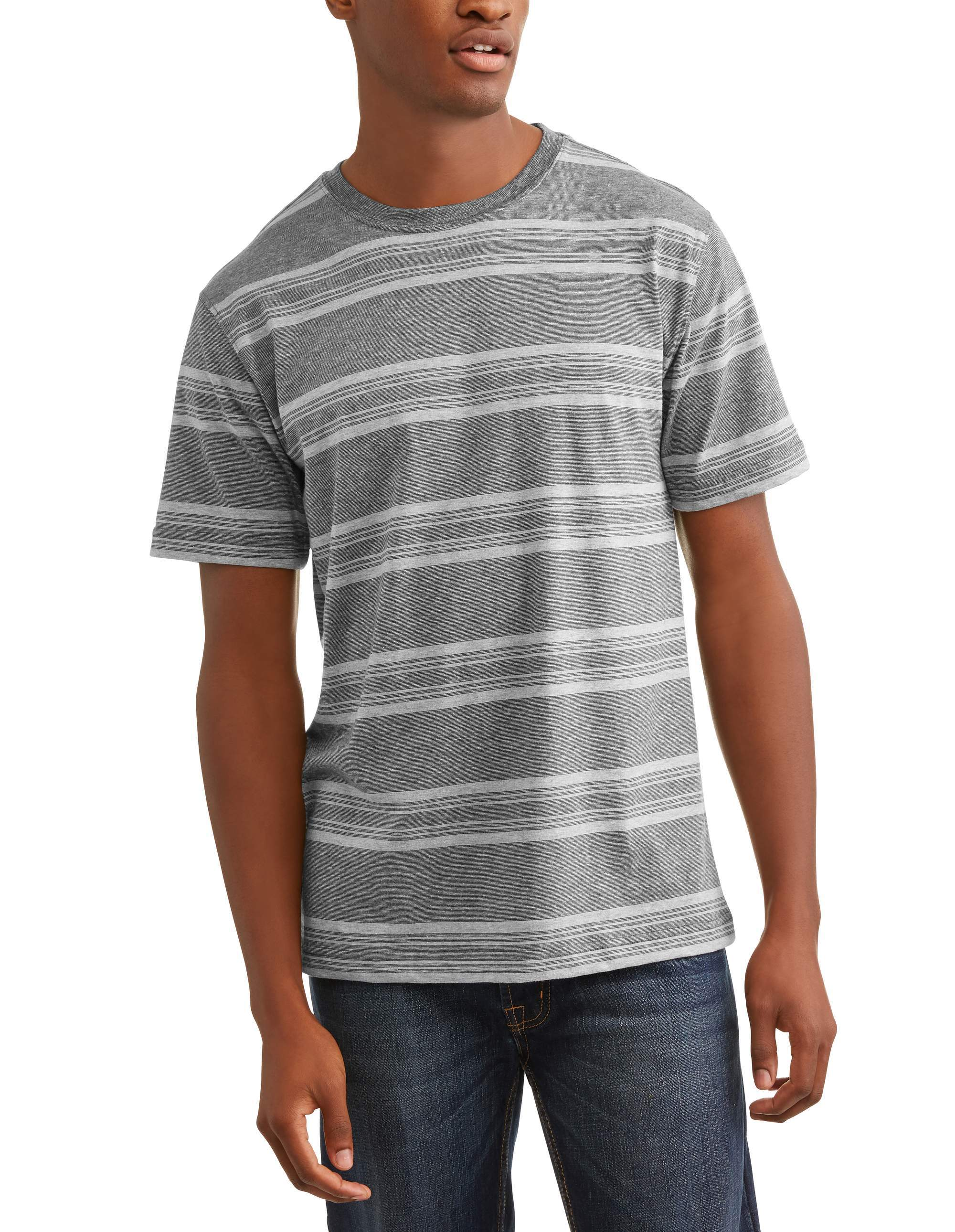 Men's and Big and Tall Men's Stripe Tee, up to size 3XLT