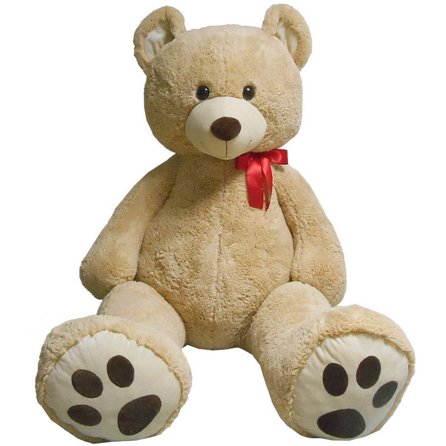 6' Tall Stuffed Teddy Bear, Cream