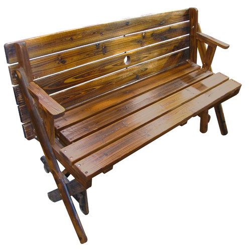 Leigh Country Char-Log Folding Bench and Table