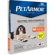PetArmor Plus Flea & Tick Squeeze-On Treatment for Dogs, 3 Doses