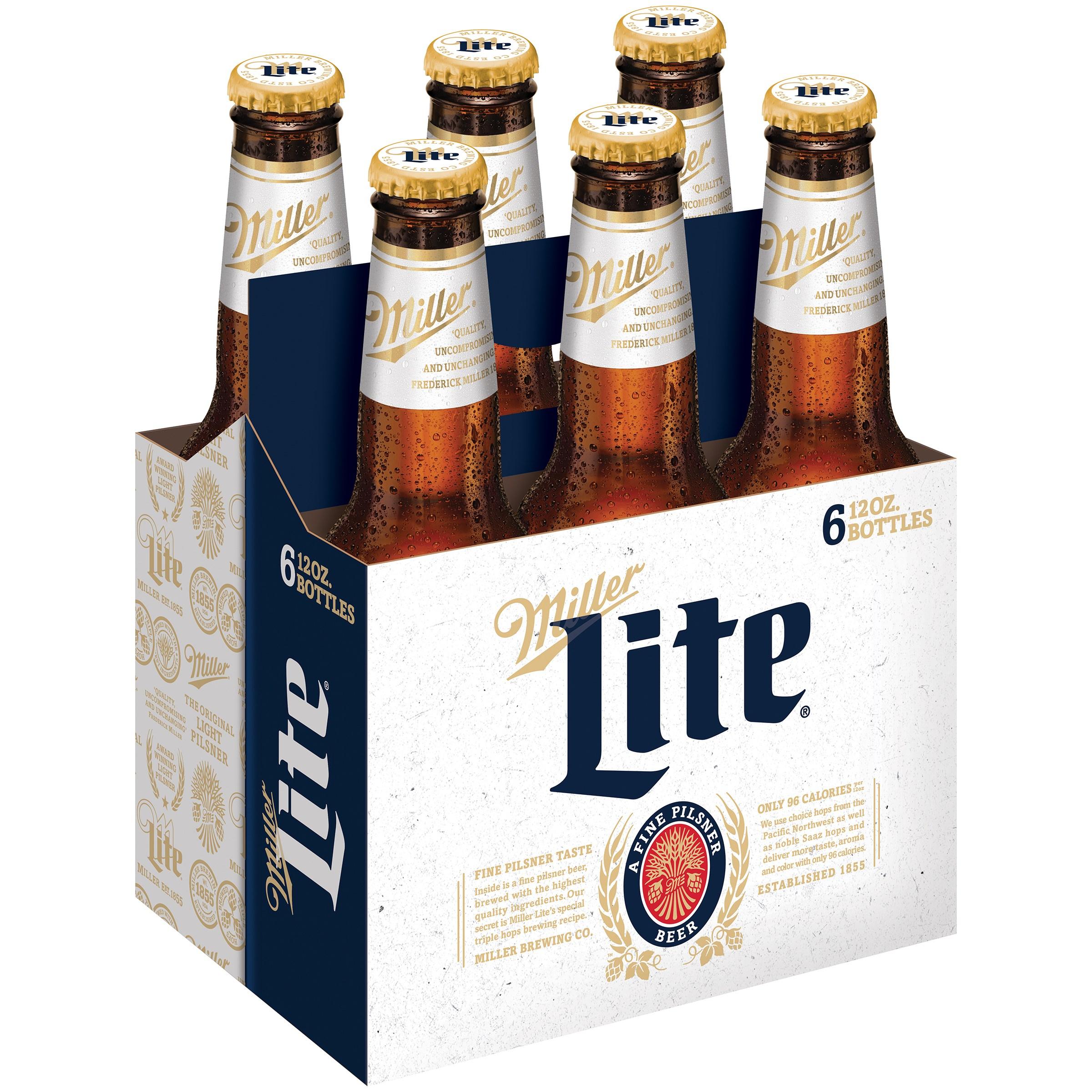Miller Lite® Beer 6-12 fl. oz. Bottles - Walmart.com