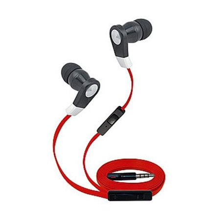 Super High Clarity 3.5mm Stereo Earbuds/ Headphone for HTC Desire 10 pro,Desire 555, One X10, Desire 650, Desire 10 lifestyle, One A9s (Red) - w/ Mic & Volume Control + MND